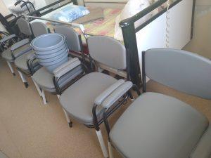 Gulta, 5 invalīdu tualetes krēsli